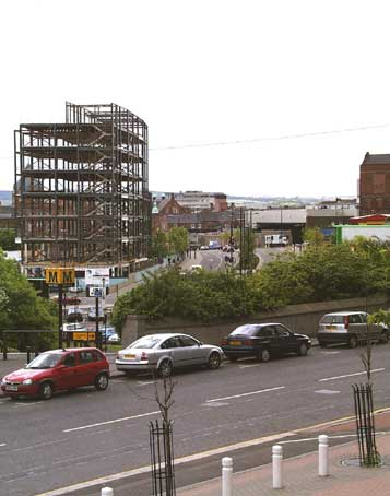 St. James' Boulevard and new office block